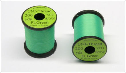 New UNI-Thread 8/0 Fluorescent Green